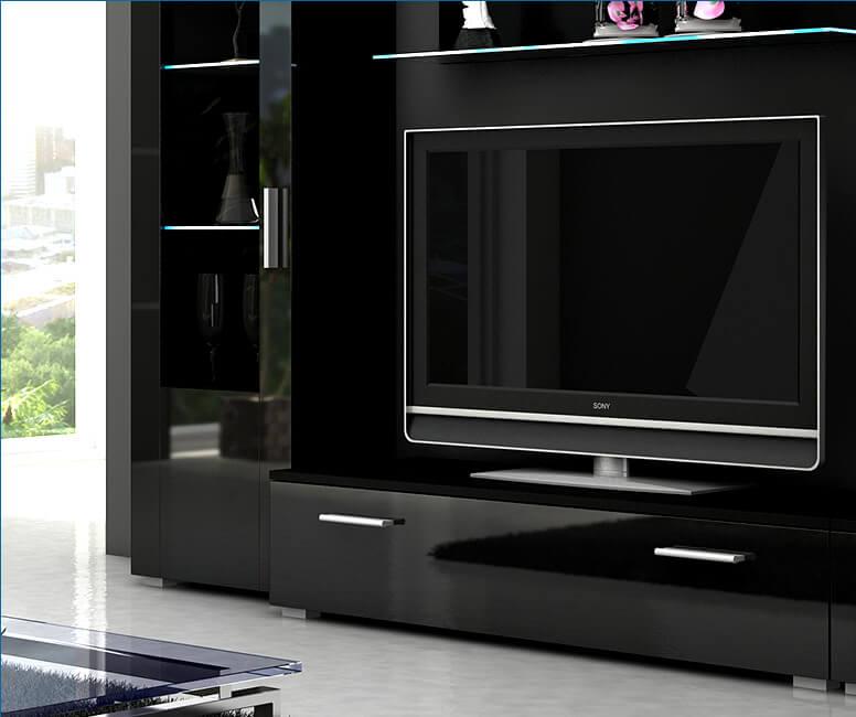 Czarna szafka pod telewizor Sun
