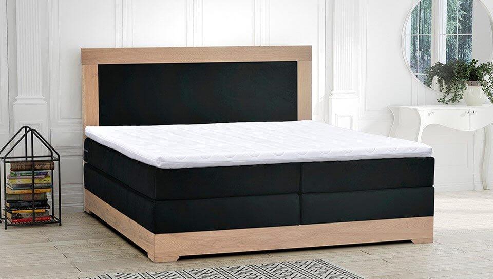 Łóżka tapicerowane w naturalnej sypialni